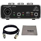 Bajaao XLR With Behringer U-PHORIA UM2 2 x 2 Audio interface with USB 2.0 With Polishing Cloth