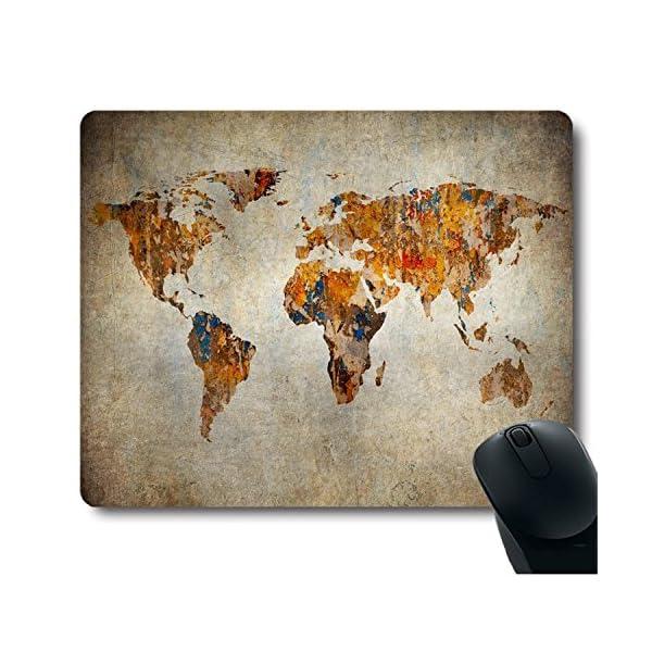 bonita alfombrilla de raton con mapa del mundo