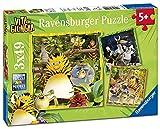 Ravensburger Italy 08010 6 - Puzzle Vita da Giungla: Alla Riscossa! 3 x 49 Pezzi