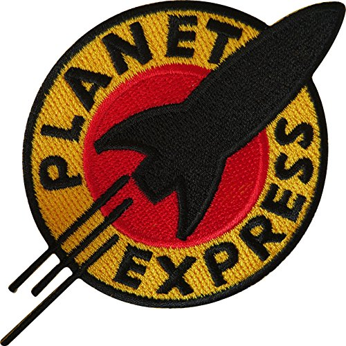 Futurama Planet Express Eisen auf Sew auf bestickt Patch T Shirt Bag Jeans Badge