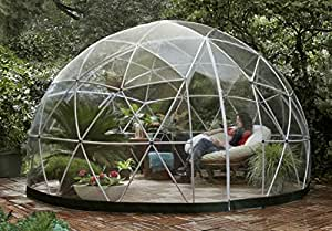 garden igloo 33244 clear greenhouse 142 x 142 x 87 inches garden outdoors. Black Bedroom Furniture Sets. Home Design Ideas