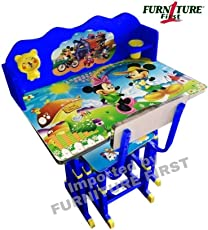 Furniture First Ff Korean Mini Alien'S Team Graphics Kids Study Table & Chair Set For Kids Age Between 3-10 Years