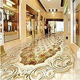 Wapel Bodenbeläge Lackiert High End Luxus Aristokratischen Gold Rose Stein Muster Parkett 3D Bodenfliesen 400 Cmx280 Cm