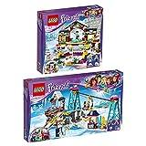 LEGO City Set en 2 parties 41322 41324 La patinoire de la station de ski + La station de ski...
