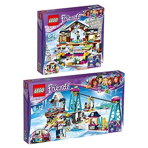 Lego Friends 2er Set 41322 41324 Eislaufplatz im Wintersportort + Skilift im Wintersportort