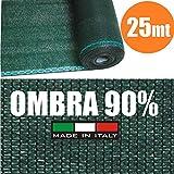 Rollo de 25 metros de malla de sombreo y ocultación, color verde, 150 cm de altura, para red metálica