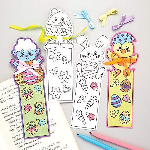 Baker Ross Segnalibri da colorare a Tema Pasquale (Confezione da 12) - Creazioni pasquali per Bambini, da Decorare e Personalizzare