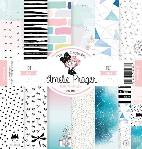 Amelie Prager amsp01004Papier Scrapbooking, 30.5x 32cm, Set 6-teilig