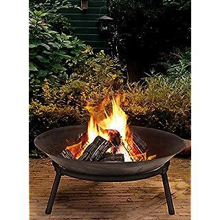 Ambiance Feuerstelle mit 3 Beinen | Anthrazit | Durchmesser 50cm
