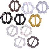 SUPVOX 10 pz Sciarpa Anello Fibbia e Chiusura a Clip A Forma di Fiore Sciarpa Clip Fermagli in Resina per Sciarpe e Foulard
