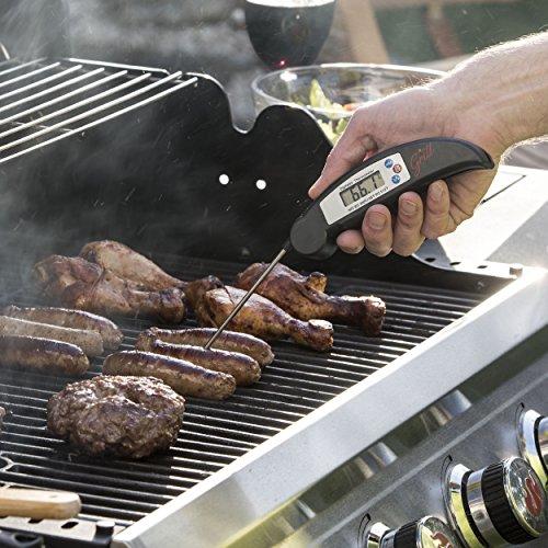 61SE4oDj6SL - Hans Grill Grillthermometer BBQ Thermometer Digital Kochthermometer Kabelloses Sofortiges Zusammenklappbarer Sonde für Grillfleisch Hoch Präzise, Küchenthermometer Deutschen Display Grill