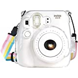 Fujifilm Instax Mini 8 / Mini 8+ / Mini 9 Crystal Case - CAMSIR Crystal Camera Case With Adjustable Rainbow Shoulder…