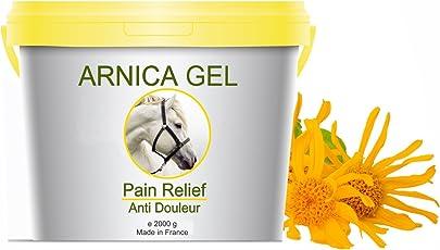 Gel naturale per gli arti del cavallo a base di Arnica Montana 2200g- Gel all Arnica 100% Naturale - Azione Lenitiva Contusione Ematomi Dolori Muscolari Rinfrescante Sollievo Antinfiammatorio