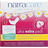 Natracare Ultra Extra Pads wth wings - Normal - Super Soft - Extra Absorbent - 12 Count (Pack of 4)