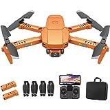 OBEST Mini Drone Caméra 4k, Drone Pliable Pour Enfants, Maintien en Hauteur, Mode sans Tête, Transmission Vidéo FPV WiFi, Ret