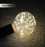 ✽ZEZKT-Home✽Solar Lichterkette Weihnachten LED Glühbirne E27 Sternen Fee String Weihnachten Party Lampe Home Decor Garten Globe Außen Warmweiß (Gelb)