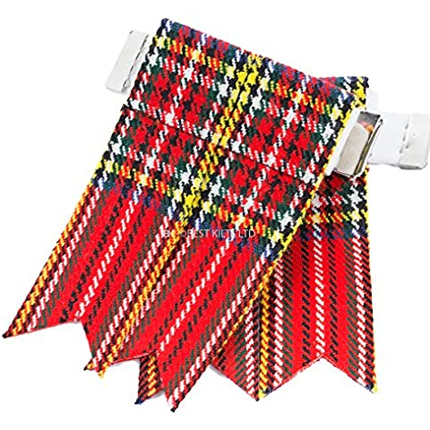 Best Kilts -  Calze  - Uomo Rosso Red, Blue, Yellow