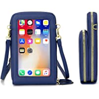 Klein Handy Umhängetasche Damen Touchscreen Geldbörse Geldbeutel Crossbody kleine Handytasche Handtasche Brieftasche Zum…