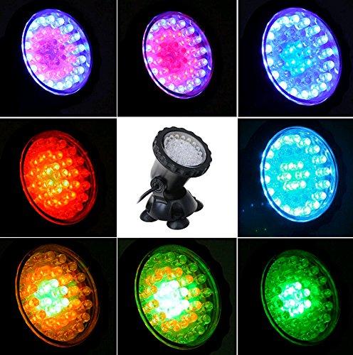 GEEDIAR Aquarium Spot Light Unterwasserleuchte RGB LED Aquarien Licht Lampe für Fisch Tank innen Pool innen Brunnen Beleuchtung Deko (Mit Fernbedienung) von GEEDIAR