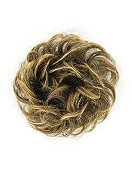 chouchou cheveux châtain méché doré ref: 17 en 6t24b