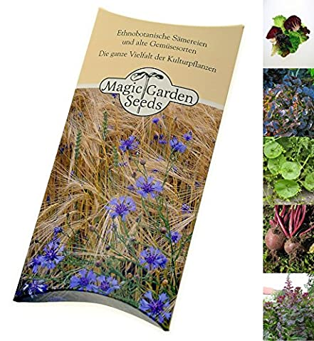 Seed-kit: 'Baby-leaf lettuce', 4 small-leaved lettuce and salad plant varieties presented in a beautiful gift box, ready to be given away
