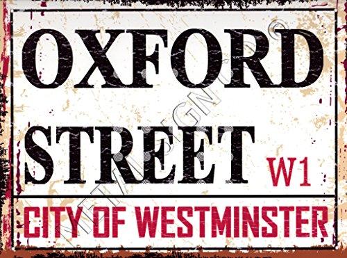 Oxford Street klein London Straßenschild aus Metall Retro Vintage Style Garage Schuppen Werkstatt Bar Pub Wand Kunst Büro Spiele Raum -