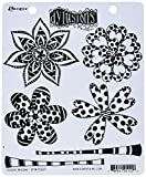 Ranger Doodle Blooms Cling Stamp Set, Rubber, Red