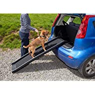 Easipet Pet Ramp for Dogs in Plastic, Folding Lightweight and Strong (Black)