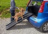 Easipet Pet Ramp für Hunde in Kunststoff, Falten Leicht und Stark (Schwarz Oder Blau) (Schwarz)
