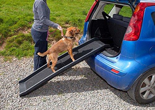 Artikelbild: Pet Ramp für Hunde in Kunststoff, Falten leicht und stark (schwarz oder blau) (schwarz)