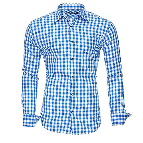 Kayhan Herren Hemd, Oktoberfest Blau L