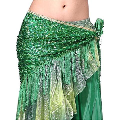 Dance Accessories Costume Danza del ventre anca sciarpa Gonna Triangle Sequins Tassels Wrap Cintura