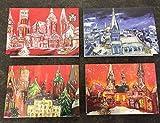 Weihnachtskarten mit Motiven aus