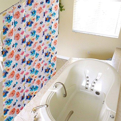 Rideaux de douche Mode PVEA Rideau de douche Protection de l'environnement Salle de bains imperméable à l'eau de sécurité Hygiène Durable ( taille : 120X200CM )