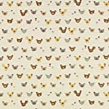 Unbekannt Jacquard Gobelin Hühner – beige — Meterware