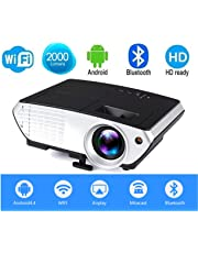 Myra® M803 Android, Wi-Fi, Bluetooth LED Projector 2000 Lumens, 800*480 HDMI USB VGA TV Home Cinema, Support Anaglyph 3D