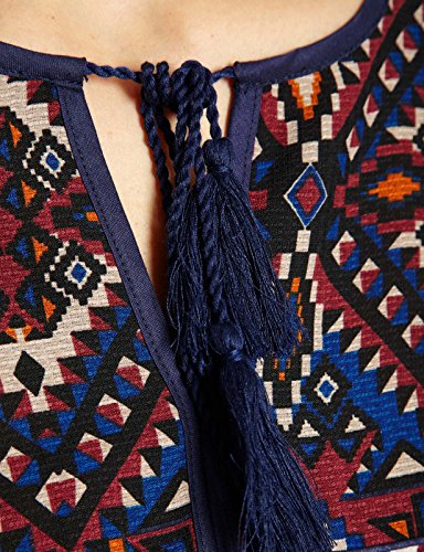 Morgan Ocaris - Blouse - Imprimé - Col rond - Manches longues - Femme Multicolore