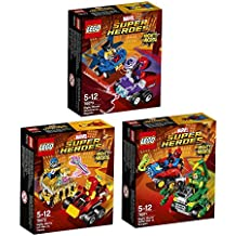 LEGO Marvel Super Heroes Set Mighty Micros: 76073 76071 76072 Wolverine vs Magneto + Spider-Man vs Scorpion + Iron Man vs Thanos