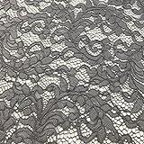 Grau mit Spitze Stoff für Bridal, Kleid, Hochzeit, Stoff