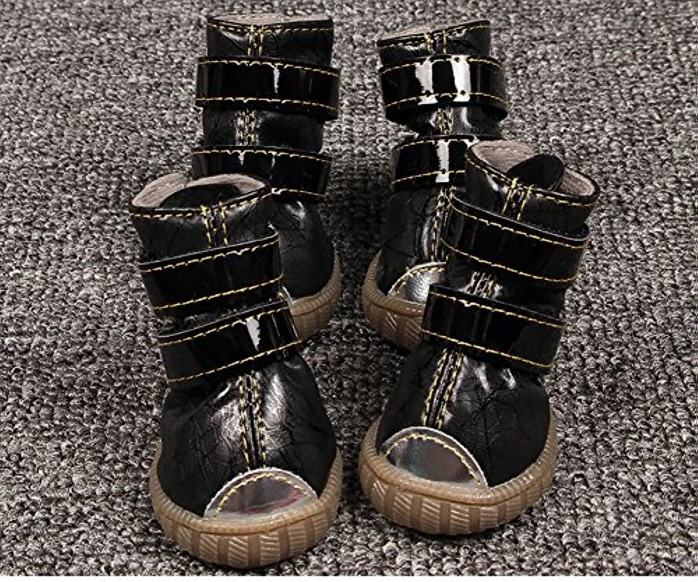 Longwei Botas Impermeables Para Mascotas, Botas Antideslizantes Botas De Nieve Zapatos De Invierno Cálido Zapatillas  -
