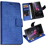 Zaoma Diary Wallet Type Pu Leather Flip Case Cover for Lenovo Phab 2 Plus - Shimmer Blue
