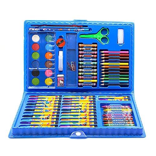 Wanlianer penna di vernice cancelleria per pittura per bambini set 86 set di strumenti artistici di scuola elementare pastello penna combinazione acquerello segna la penna (colore : blu)