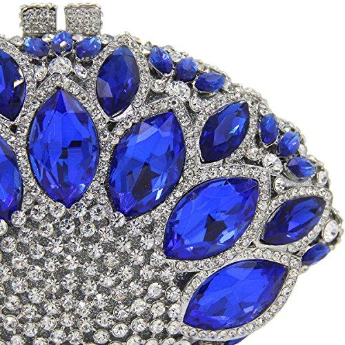 MOGOR, Poschette giorno donna nero Colorful medium Light Blue