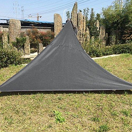 Auvent Triangle Voile d'ombrage Rectangulaire | 3 * 3m 3.6 * 3.6m Crème | Une Protection des Rayons UV | Toile d'ombrage Auvent Pare-soleil de Jardin