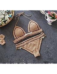 XM Fashion New Swimsuit En Maillot De Bain En Bikini Beach Hot Spring Ladies Wipped Split Swimsuit