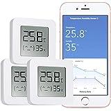 WARMTUYO Digital Termómetro Higrómetro Interior, Bluetooth Termómetro Higrómetro Monitor, Medidor Temperatura Humedad Inalámb