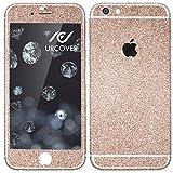 Urcover Glitzer-Folie zum Aufkleben | Apple iPhone 6/6s | Folie in Champagner Gold | Zubehör Glitzerhülle Handyskin Diamond Funkeln Schutzfolie Handy-schutz Luxus Bling Glamourös