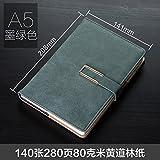 XIAOXINYUAN Un Épaississement Livre Papeterie Portable5 Le Bloc-Notes De Bureau D'Affaires Journal De Fournitures De Bureau. Green
