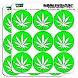 graphique et plus 5cm Pot de Marijuana Weed Vert feuille Scrapbooking Artisanat Sticker