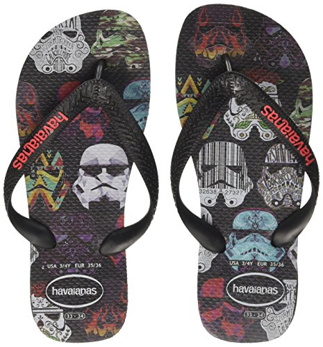 Havaianas star wars infradito unisex - adulto, nero (black/black/red 2563), 39/40 eu (37/38 brazilian)
